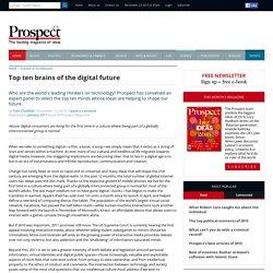 Top ten brains of the digital future « Prospect Magazine