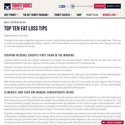 Top Ten Fat Loss Tips