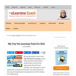 My Top Ten Learning Tools For 2012