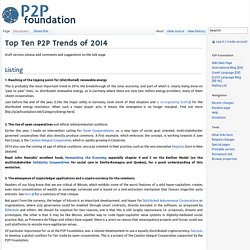 Top Ten P2P Trends of 2014