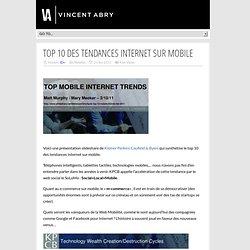 Top 10 des Tendances internet sur Mobile