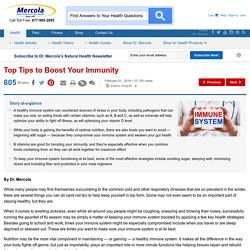 Top Tips to Boost Your Immunity
