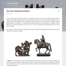 Top 4 Tips To Buy Bronze Sculptures