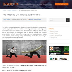Top 10 Tips to Get invoice paid on time