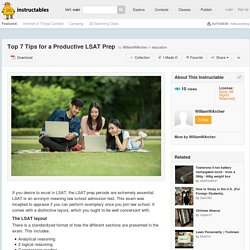 Top Many Tips for a Productive LSAT Prep