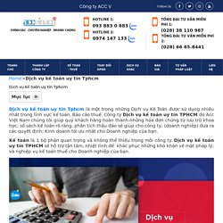 □ Top 1 Dịch vụ kế toán uy tín Tphcm năm 2021