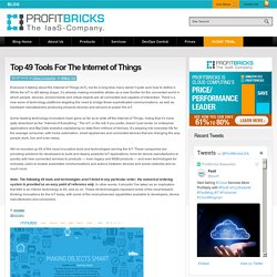 Top 49 Tools For The Internet of Things