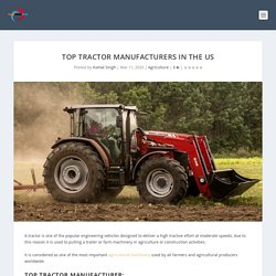 Top Tractor Manufacturers in the US