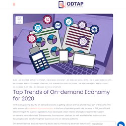 Top Trends of On-demand Economy for 2020