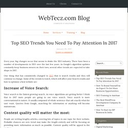 Top SEO Trends You Need To Pay Attention In 2017