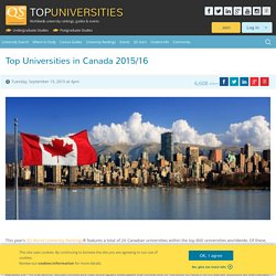 Top Universities in Canada 2015/16