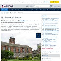 Top 5 Universities in Scotland 2017