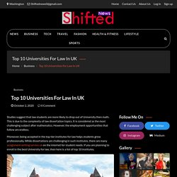 Top 10 Universities For Law In UK - Shifted News