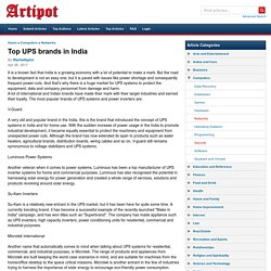 Top UPS brands in India