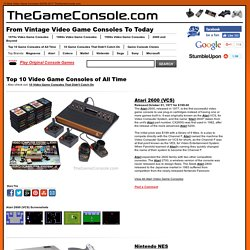 A History of Home Video Games from Atari to Xbox, Playstation and Wii - StumbleUpon