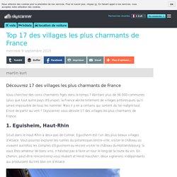 Top 17 des villages les plus charmants de France