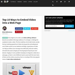Top 10 Ways to Embed Video into a Web Page