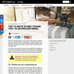 """Top ways to say """"thank you"""" in an English email"""