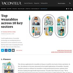 Top wearables across 10 key sectors