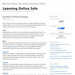 Top Web 2.0 Tools for Learning