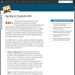 Top 'Web 3.0′ Trends for 2010 - Flock