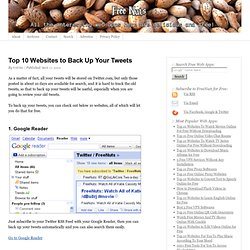 Top 10 Websites to Back Up Your Tweets