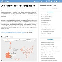 20 Inspirational Websites