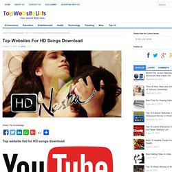 Top Websites For HD Songs Download