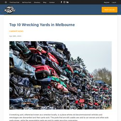 Wrecking Cars Melbourne - CarpartAU