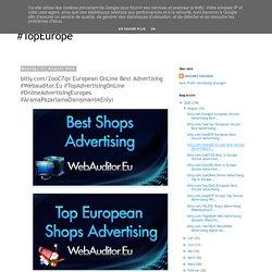 bitly.com/2ooC7qv European OnLine Best Advertising #Webauditor.Eu #TopAdvertisingOnLine #OnlineAdvertisingEuropes #AramaPazarlamaDanışmanlıkEnİyi