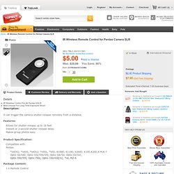 IR Wireless Remote Control for Pentax Camera SLR - Shipping Cap Promotion- - TopBuy.com.au