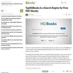 TopHQBooks Is a Search Engine for Free PDF Ebooks