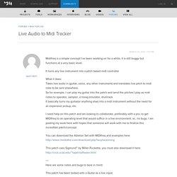 Live Audio to Midi Tracker