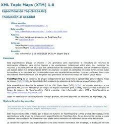 XML Topic Maps (XTM) 1.0. Traducción al español