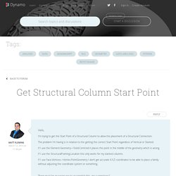 Topic: Get Structural Column Start Point
