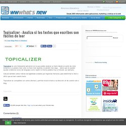 Topicalizer