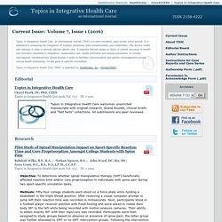 Topics in Integrative Health Care