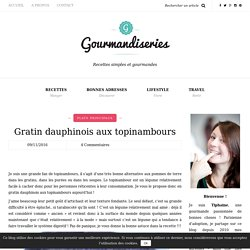 Gratin dauphinois aux topinambours