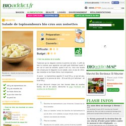 Salade de topinambours bio crus aux noisettes