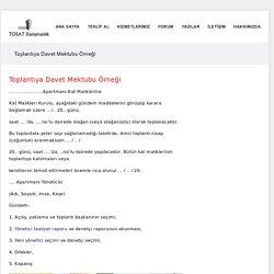 Toplantıya Davet Mektubu Örneği - Apartman ve Site Yönetimi Hizmetleri