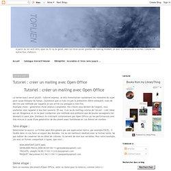 créer un mailing avec Open Office