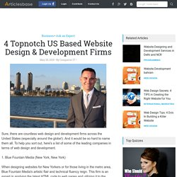 4 Topnotch US Based Website Design & Development Firms