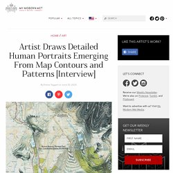 Map Art Sees Faces Emerge From Topographic Contours and Patterns