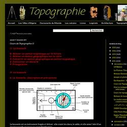 Cours de Topographie II