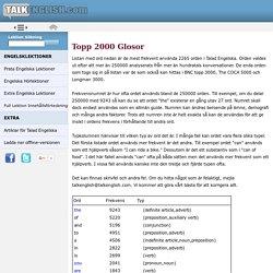 Topp 2000 av Engelska Ord som används i Tal