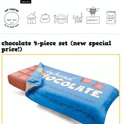 Bed Toppings | chocolate 4-piece set buy now