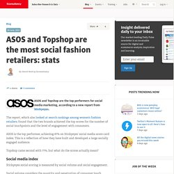 ASOS and Topshop are the most social fashion retailers: stats
