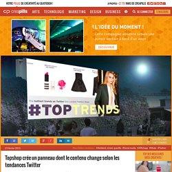 Topshop crée un panneau dont le contenu change selon les tendances Twitter