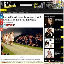 Topshop Social Catwalk For Spring Summer 2015 At London Fashion Week