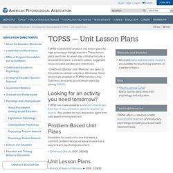 TOPSS — Unit Lesson Plans